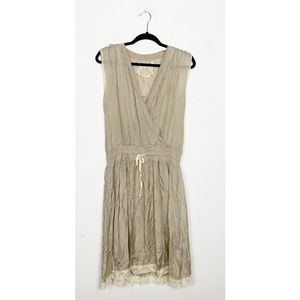 For Love and Liberty Wrap Front Silk Dress Small